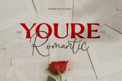 Youre Romantic - a font Duo Product Image 1