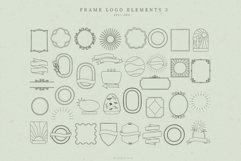 Retro Frame Logo Elements, Logo Design, Business cards Product Image 1