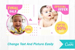 Baby shop instagram post canva template Product Image 4