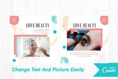 Beauty makeup instagram post canva template Product Image 4