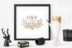 Rose border SVG, Roses floral wedding garland cut file Product Image 3