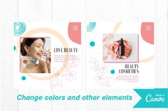 Beauty makeup instagram post canva template Product Image 2