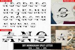 Family monogram split letter diy bundle svg Product Image 2