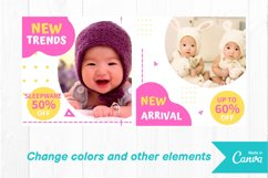 Baby shop instagram post canva template Product Image 3