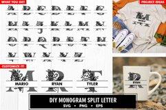 Family monogram split letter diy bundle svg Product Image 5