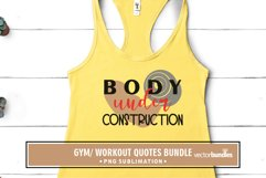Body under construction sublimation gym quote Product Image 1