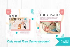 Beauty makeup instagram post canva template Product Image 3
