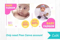 Baby shop instagram post canva template Product Image 2