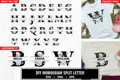 Family monogram split letter diy bundle svg Product Image 6
