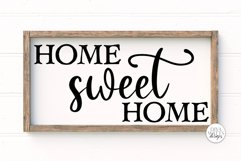 Home Sweet Home SVG   Farmhouse Sign   DXF and More Product Image 2