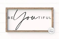 BeYOUtiful SVG | Modern Farmhouse Sign | DXF and More Product Image 1