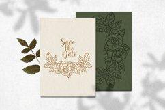 Rose border SVG, Roses floral wedding garland cut file Product Image 6