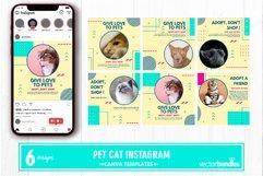 Pet cat instagram post canva template Product Image 1