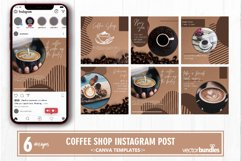 Coffee shop instagram post canva template volume 1 Product Image 1