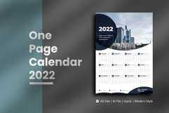 Black Circle One Page Calendar 2022 Product Image 1