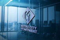 Metro City Apartment Logo Template Product Image 1
