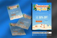 Summer Beach Sale Flyer Brochure Template Product Image 1