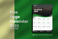 Green Wave One Page Calendar 2022 Product Image 1