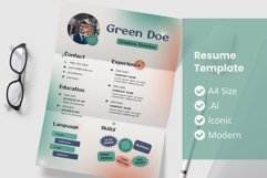 Vol.31 Style Old Resume Template Product Image 1