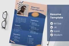 90's Resume Template Design Product Image 1