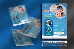 Kids Swimming School Flyer Brochure Template Product Image 1