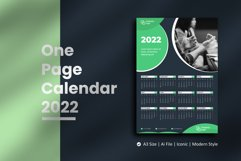 Dark Green One Page Calendar 2022 Product Image 1