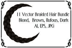 11 Vector Braided Hair Bundle - AI, EPS, JPG Product Image 1
