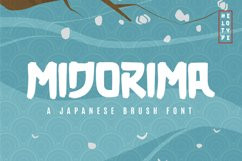 Midorima Japanese Font Brush Product Image 1