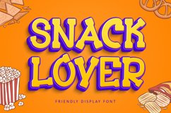 Snack Lover - Friendly Display Font Product Image 1