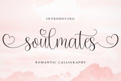 Soulmates Romantic Calligraphy Product Image 1