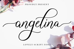 Angelina Lovely Script Product Image 1