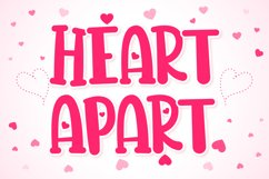 Heart Apart Lovely Font Product Image 1