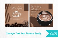 Coffee shop instagram post canva template volume 1 Product Image 2