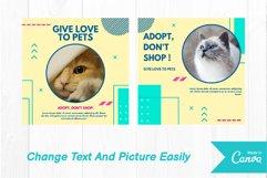 Pet cat instagram post canva template Product Image 2
