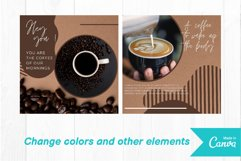 Coffee shop instagram post canva template volume 1 Product Image 3