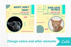 Pet cat instagram post canva template Product Image 3