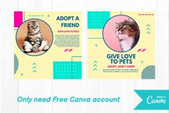 Pet cat instagram post canva template Product Image 4