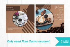 Coffee shop instagram post canva template volume 1 Product Image 4