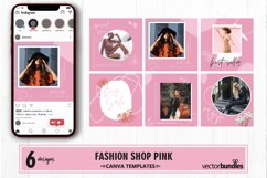 Fashion shop pink color instagram post canva template Product Image 1