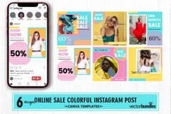 Fashion shop colorful instagram post canva template Product Image 1