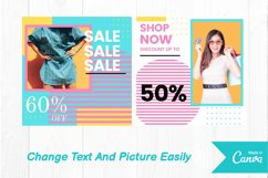 Fashion shop colorful instagram post canva template Product Image 2