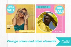 Fashion shop colorful instagram post canva template Product Image 4