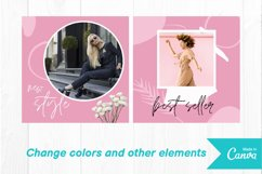 Fashion shop pink color instagram post canva template Product Image 3