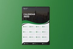 Green Wave One Page Calendar 2022 Product Image 2
