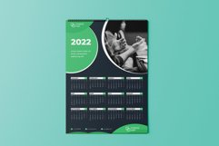 Dark Green One Page Calendar 2022 Product Image 2