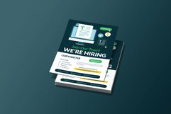 Recruitment Copy Writer Flyer Template Product Image 2