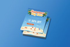 Summer Beach Sale Flyer Brochure Template Product Image 2