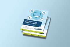 Recruitment Graphic Designer Flyer Template Product Image 2