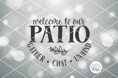 Welcome To Our Patio SVG | Round Sign SVG | DXF and more! Product Image 2