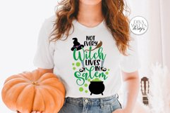 Not Every Witch Lives In Salem SVG | Halloween Sign / Shirt Product Image 2